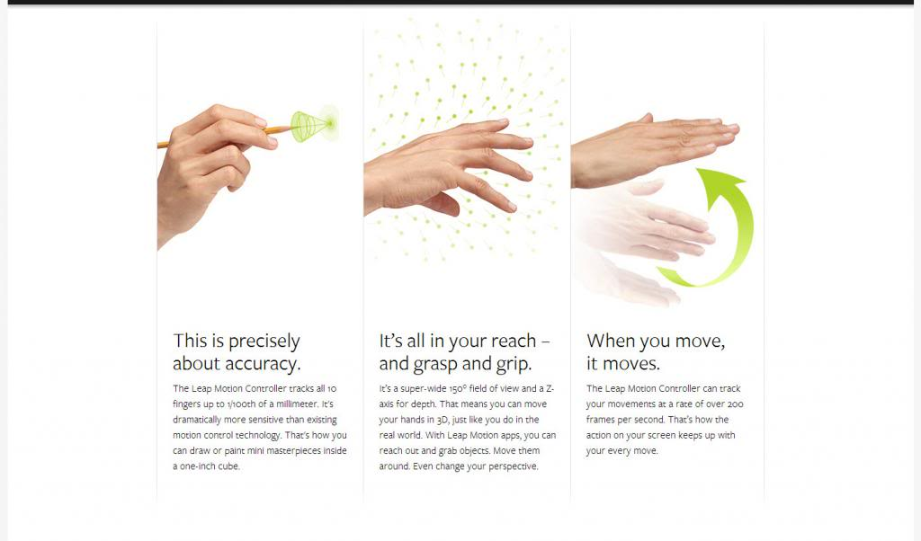 Motion tracking : Leap motion